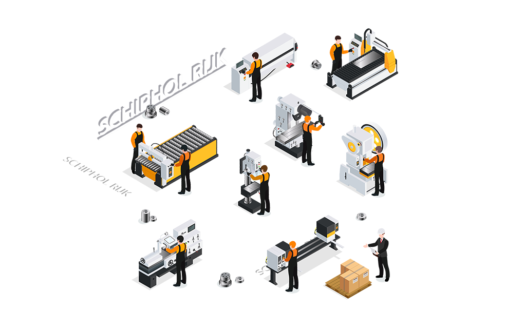 CNC metaalbewerking Schiphol Rijk