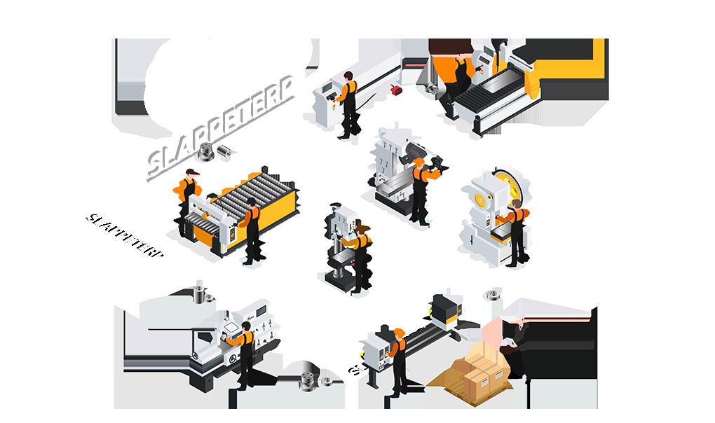 CNC metaalbewerking Slappeterp