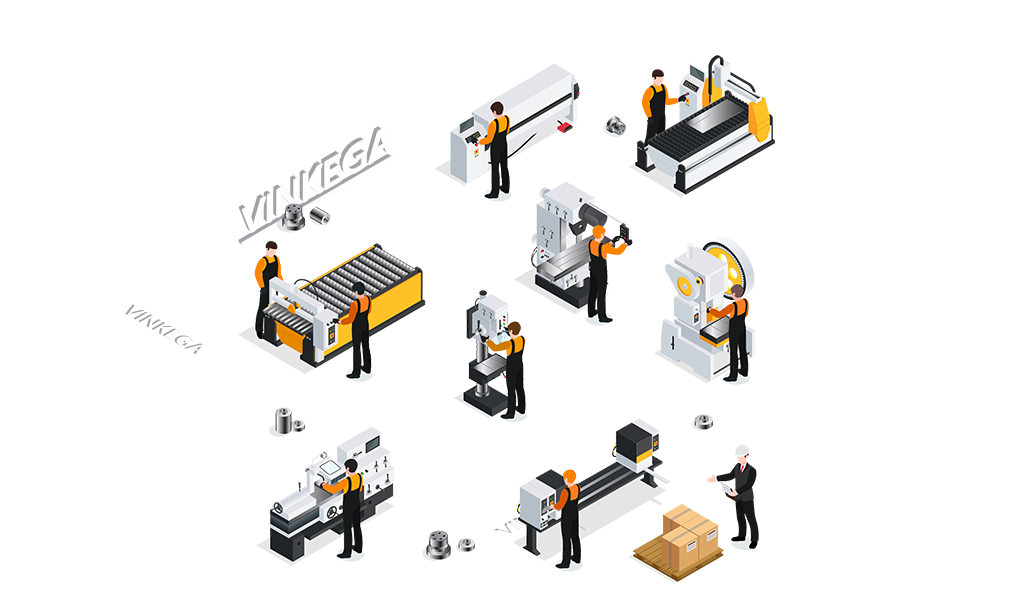 CNC metaalbewerking Vinkega